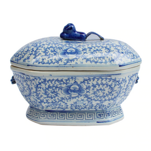 Blue & White Hex Tureen - Amy Berry Home