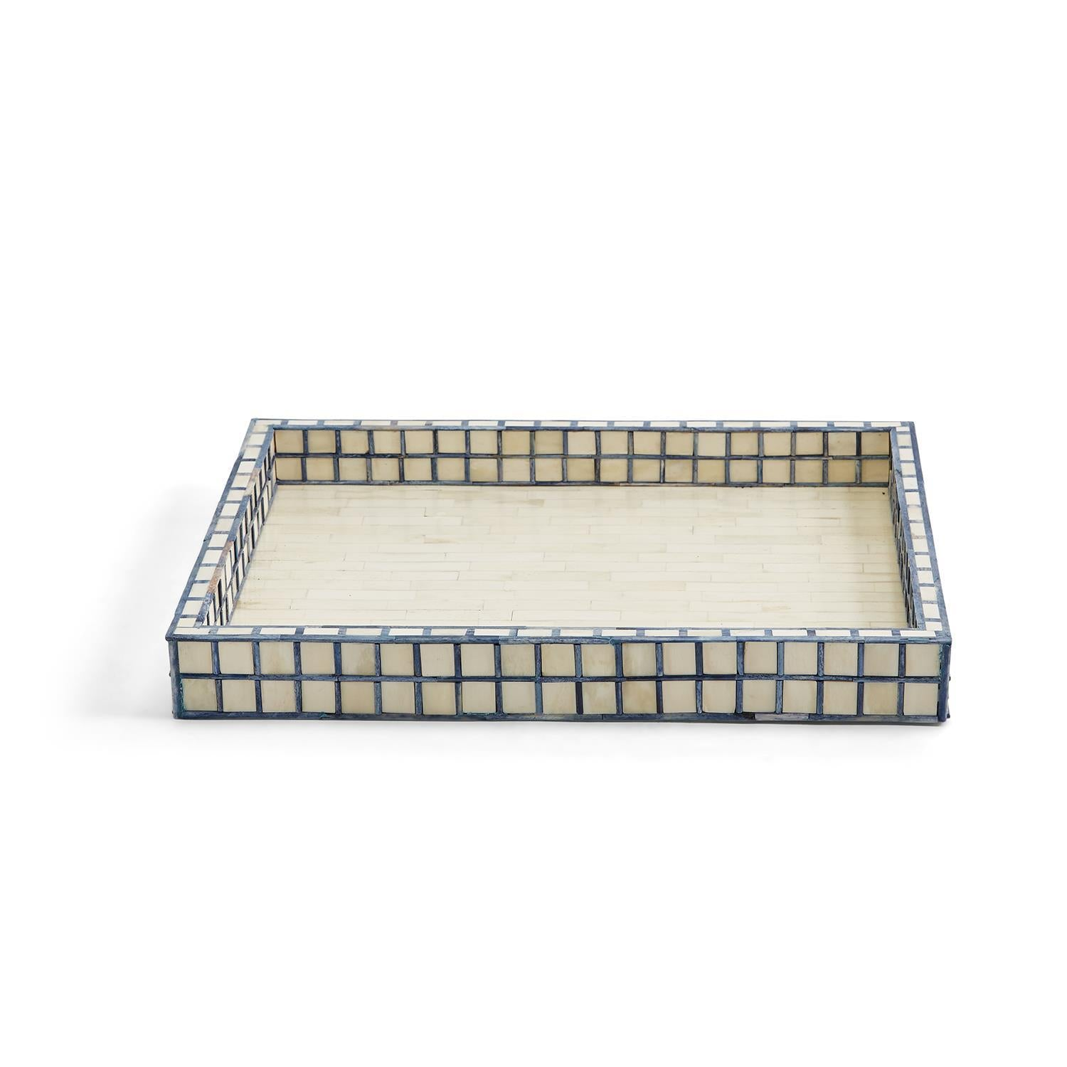 Blue Tiled Tray