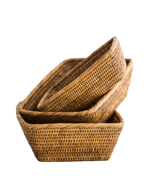Rattan Tray Baskets