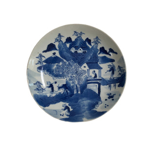 Blue & White Scenic Dishes