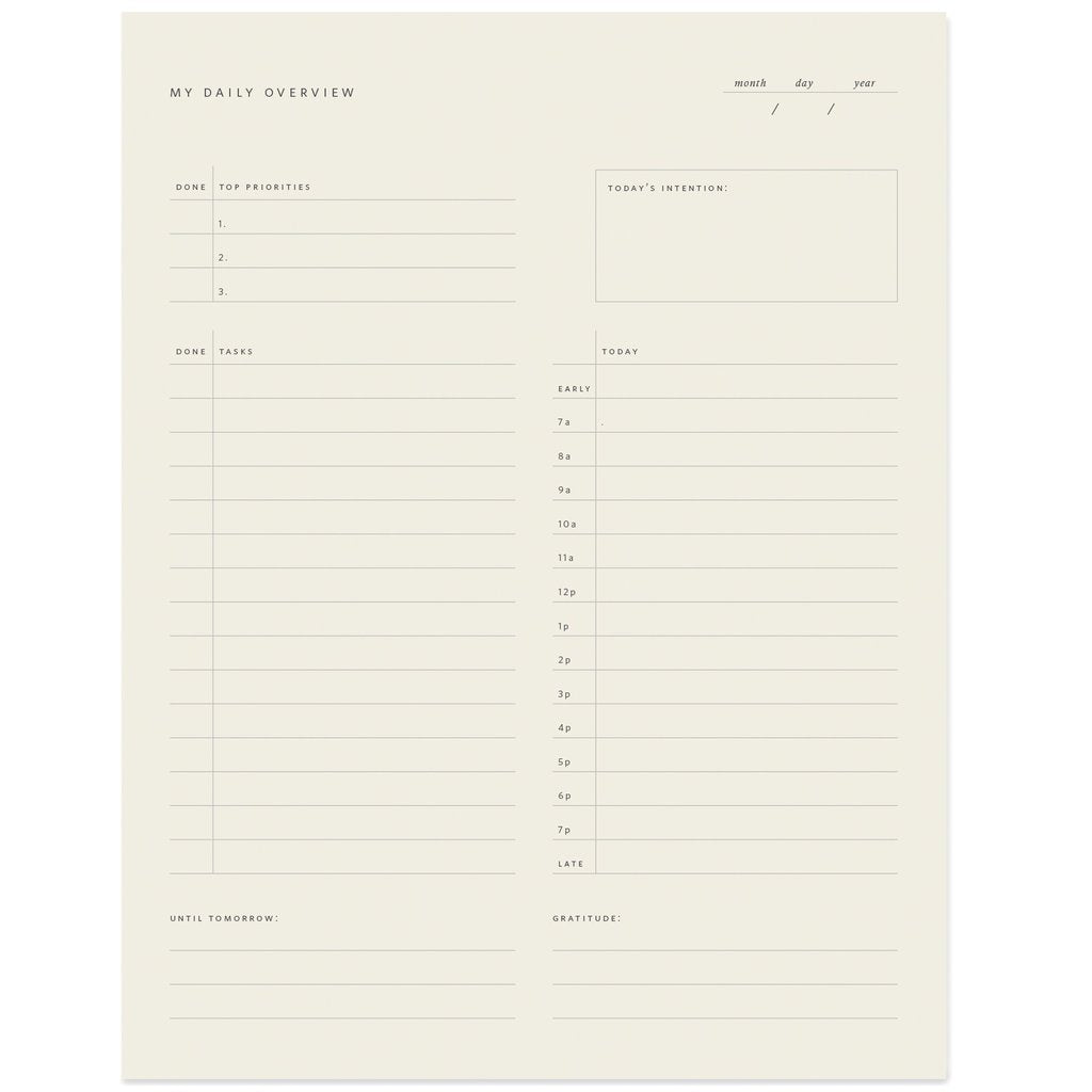 Daily Overview Notepad - Amy Berry Home