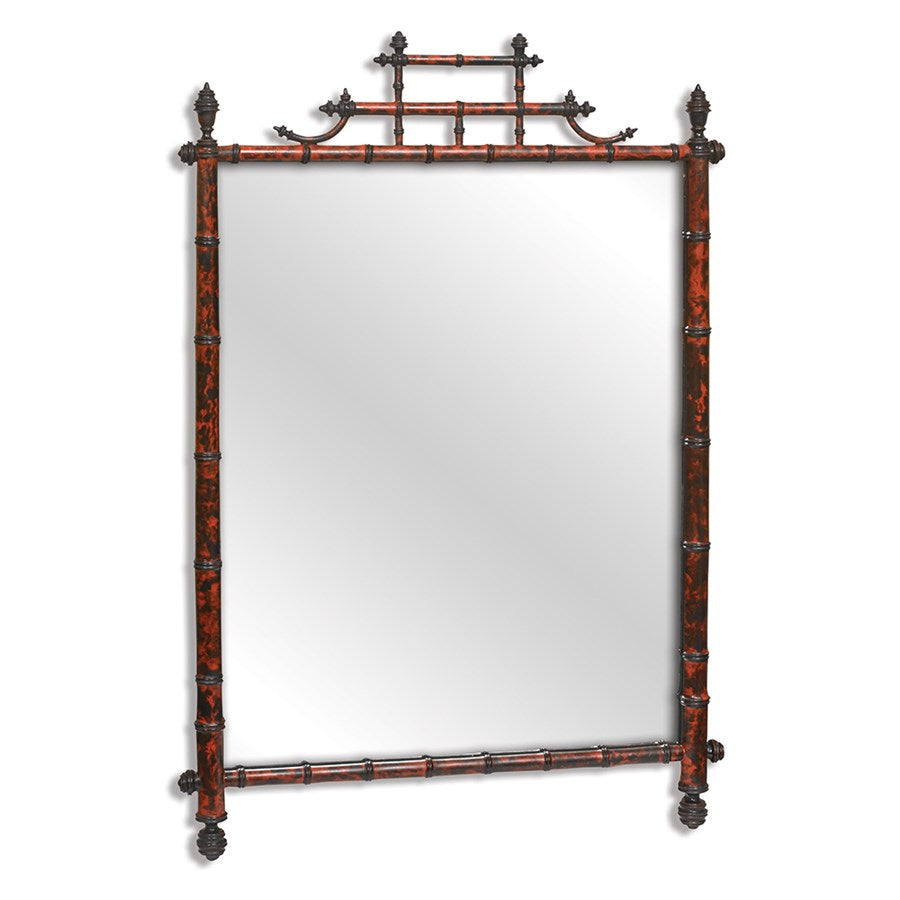 Horner Tortoise Bamboo Mirror - Amy Berry Home
