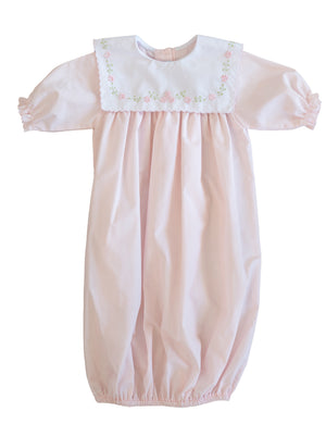 Pink Classic Saque with Bib Collar - Amy Berry Home