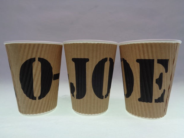 Compostable O-JOE Double Walled Hot Cups Sleeve of 25 cups