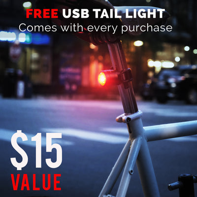 SHARK 500 - USB Rechargeable Bike Light Set