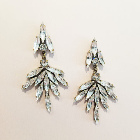 Deco Peacock Chandelier Earrings