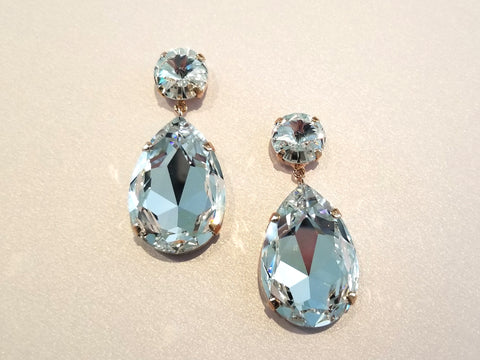 Glam Swarovski Drop Earrings