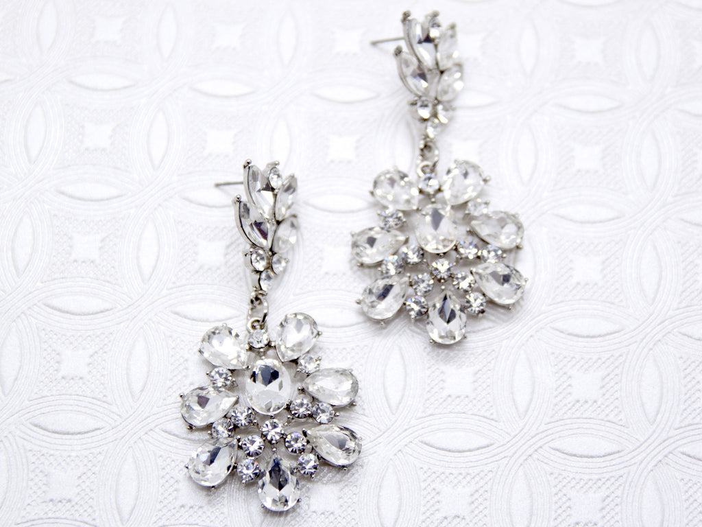Crystal bridal chandelier earrings bridal theory crystal chandelier earrings arubaitofo Gallery