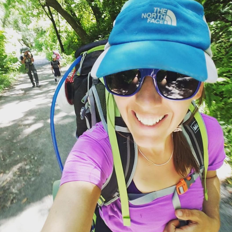 Jessica Buscho goes hiking between chemo sessions