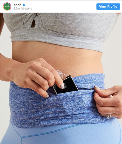 Aerie instagram | Abilitee Insulin Pump Belt