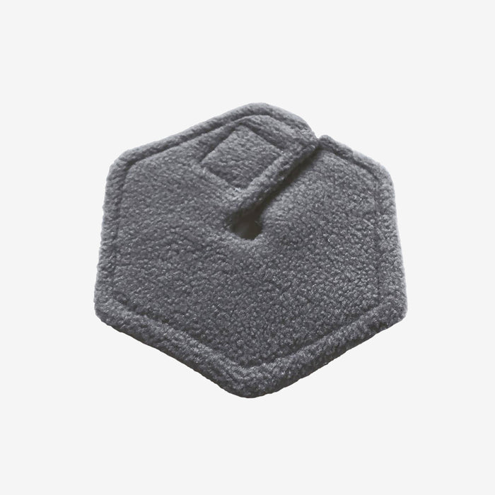 Soft absorbent backside of feeding tube pad