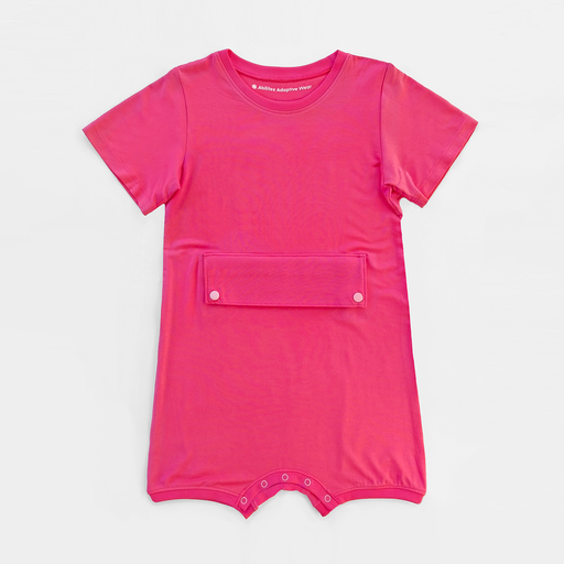 Coral Big Kid Bodysuit with Tummy Access