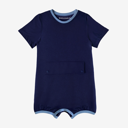 Big Kid Bodysuit with Tummy Access (Navy)