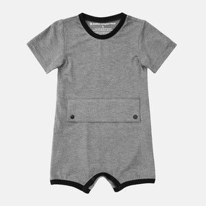 Big Kid Bodysuit with Tummy Access (Charcoal)