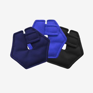 Pack of 3 hexagonal G-tube pads in blue, navy and black colors
