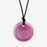 Shiny pink silicone chewigem pendant for chewing needs