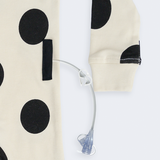 Polka Dot Tube + Cath Access Pajamas