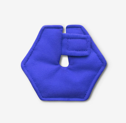 Hexagonal feeding tube pad in blue color