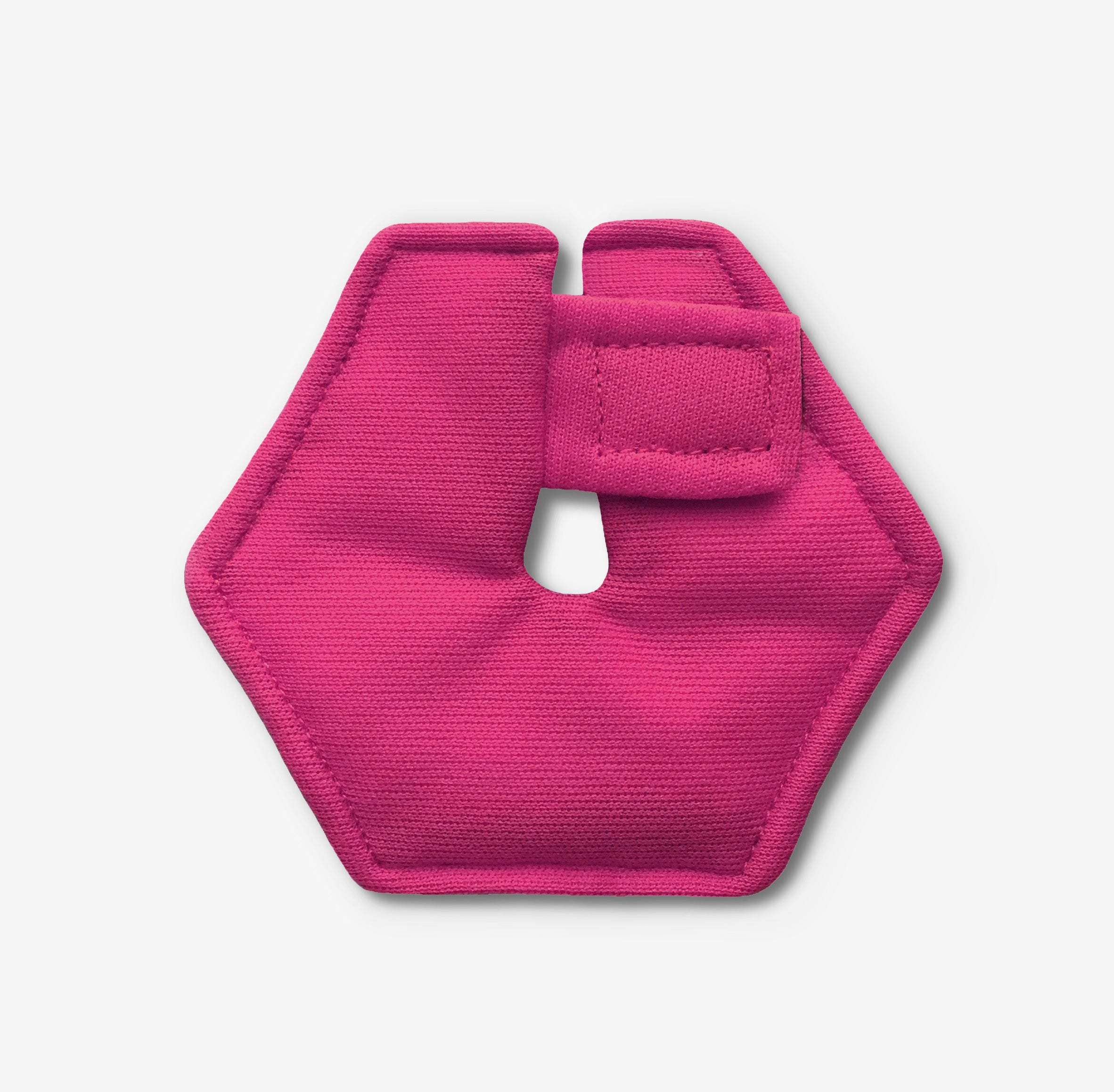 Hexagonal feeding tube pad in pink color