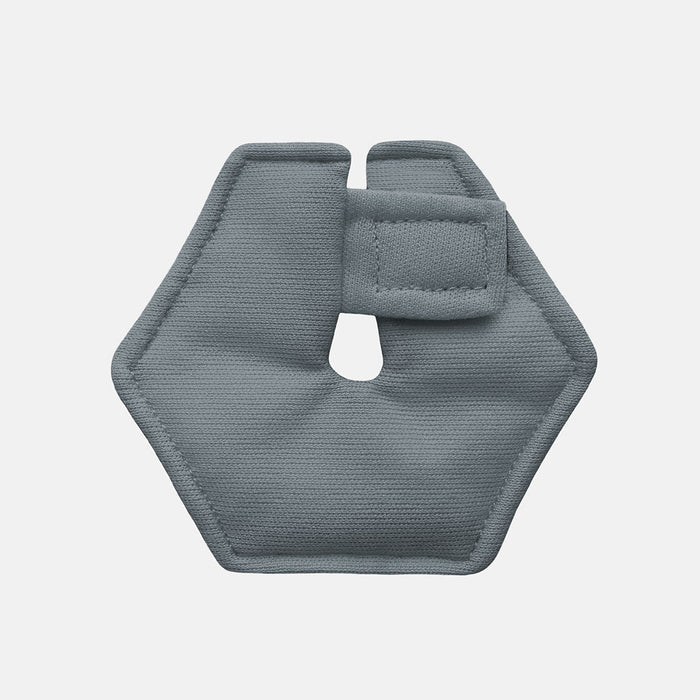 Hexagonal g-tube pad in gray color