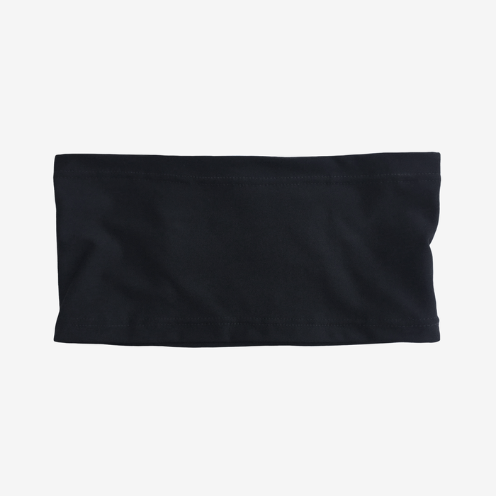 Black stretch waistband with mild compression for ostomy, recovery