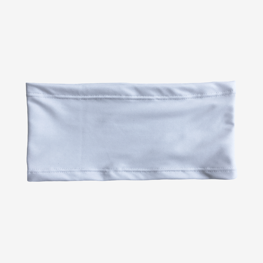 White stretch waistband with mild compression for ostomy, recovery