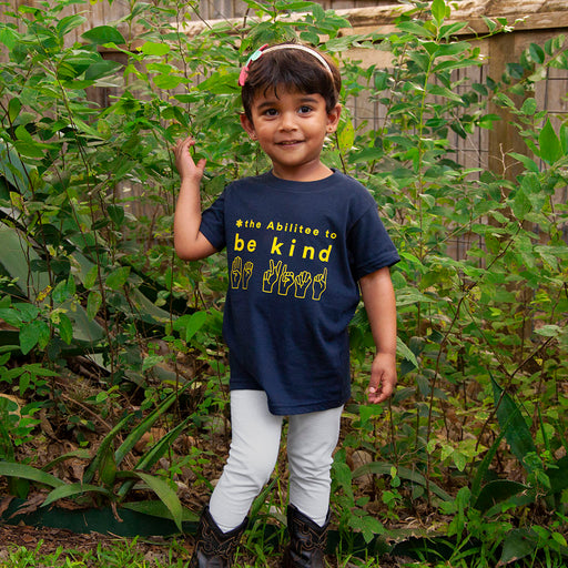 Navy BE KIND Child (2T - 6T) Short Sleeve t-shirt