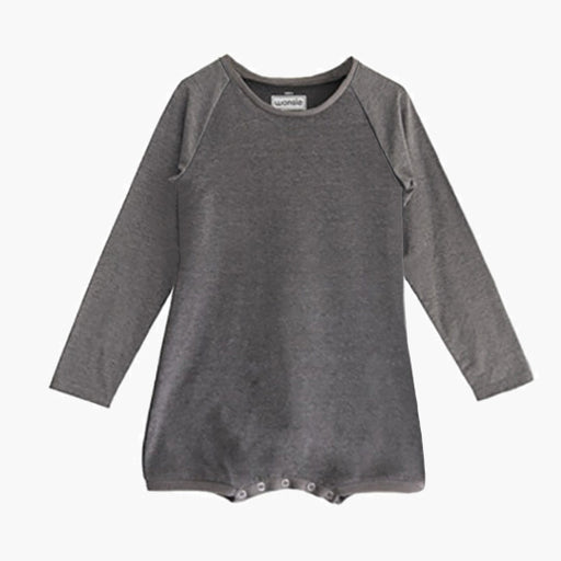Longsleeve Wonsie adaptive bodysuit made from soft cotton fabric