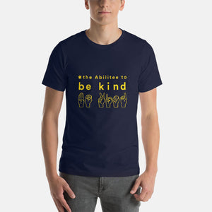 Navy BE KIND Adult (XS - 2XL) Short-Sleeve Unisex T-Shirt