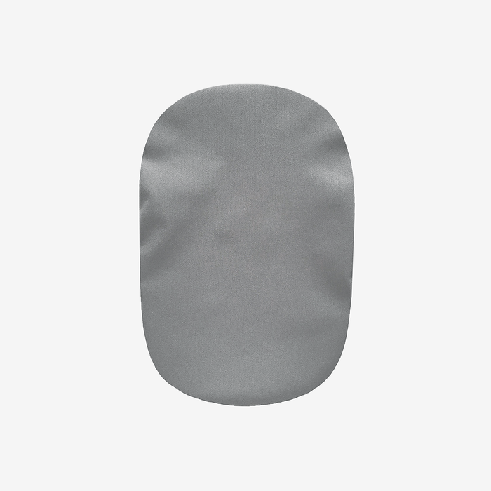 water-resistant ostomy pouch cover for colostomy, urostomy, and ileostomy with gray and black colors