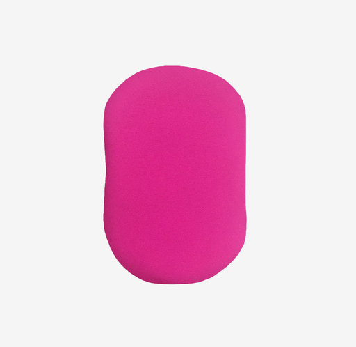Hot pink ostomy bag cover with stoma opening, flap for emptying, made from water-resistant fabric