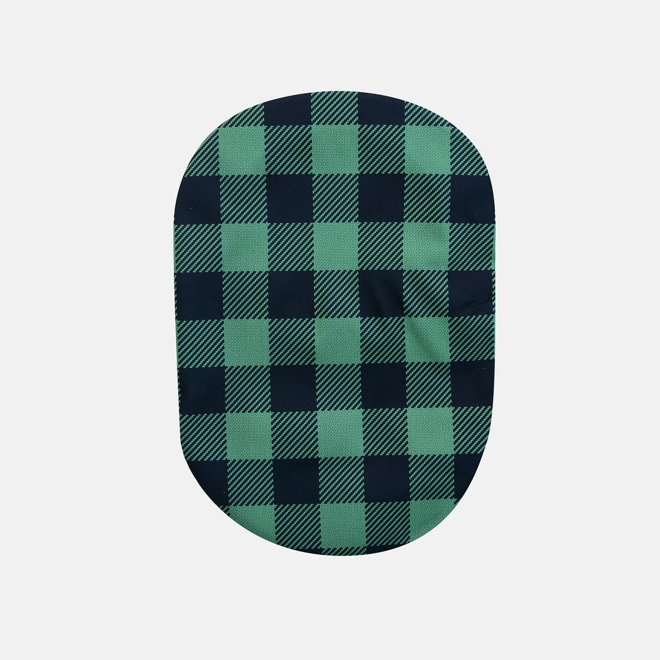Forest Green Plaid Print Ostomy Cover