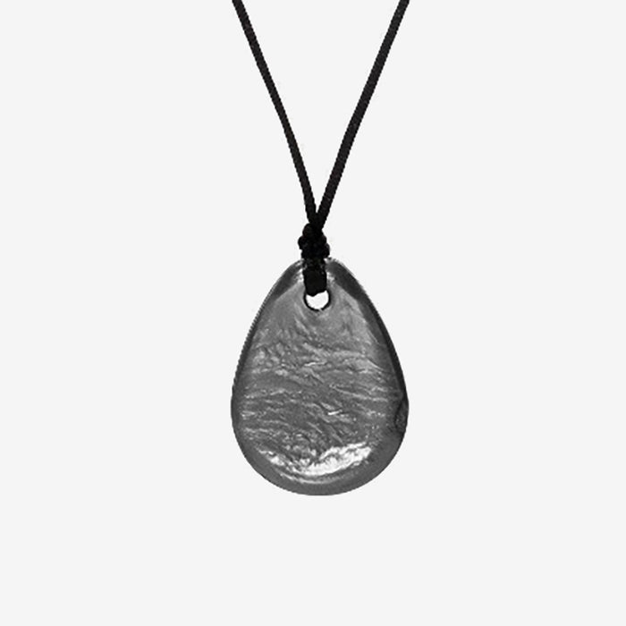 Raindrop soft chewelry pendant made from medical grade silicone for chewing needs