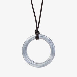 Ring shaped soft medical grade silicone pendant for chewing needs