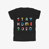 STAY HOME Black Unisex Tee (Youth)