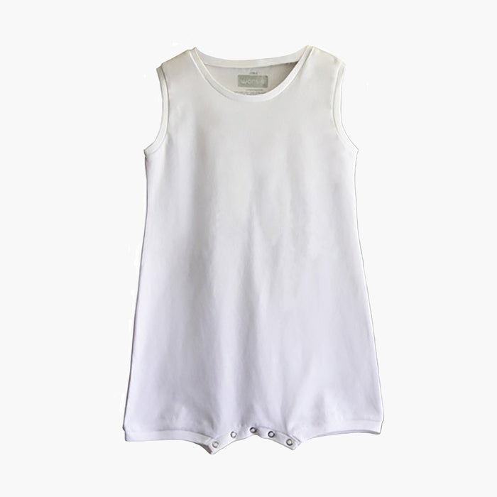 Sleeveless Wonsie adaptive bodysuit made from soft cotton fabric
