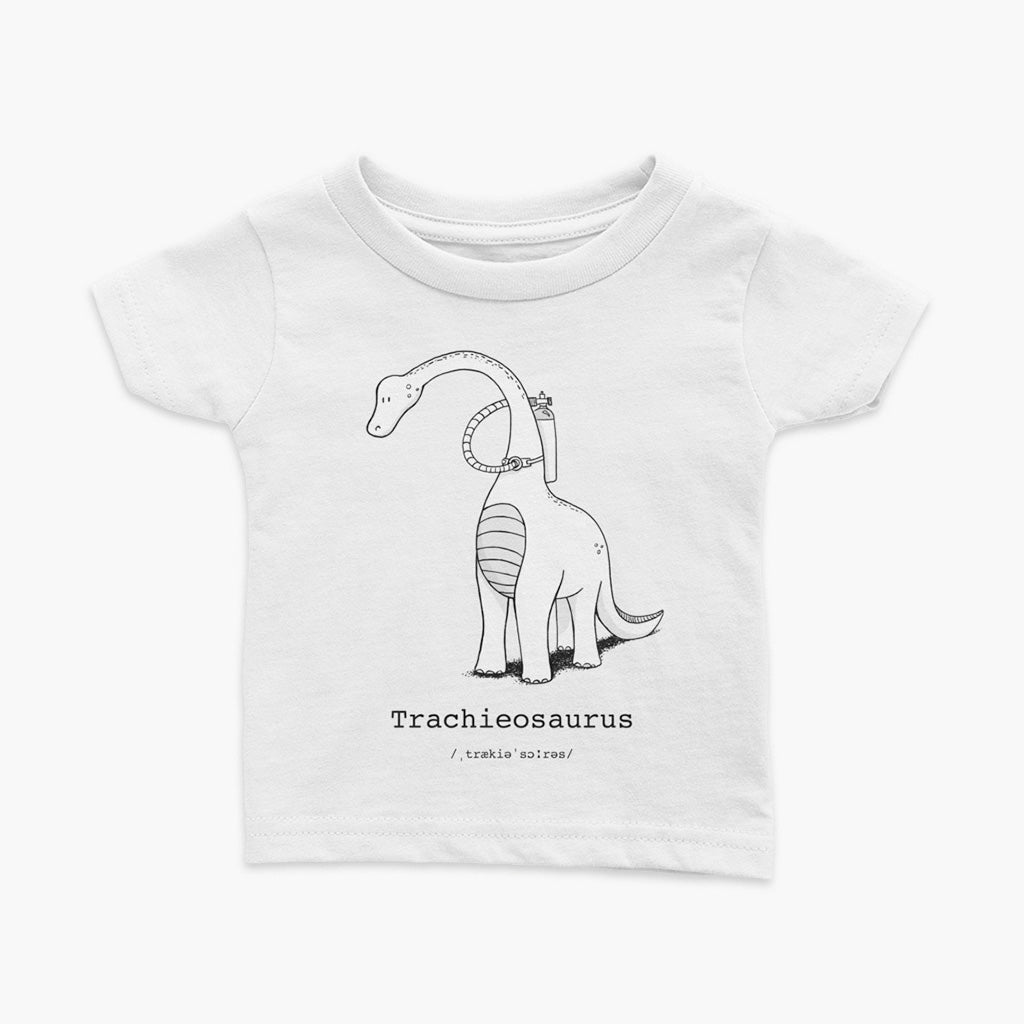 White tracheosaurus infant tee shirt