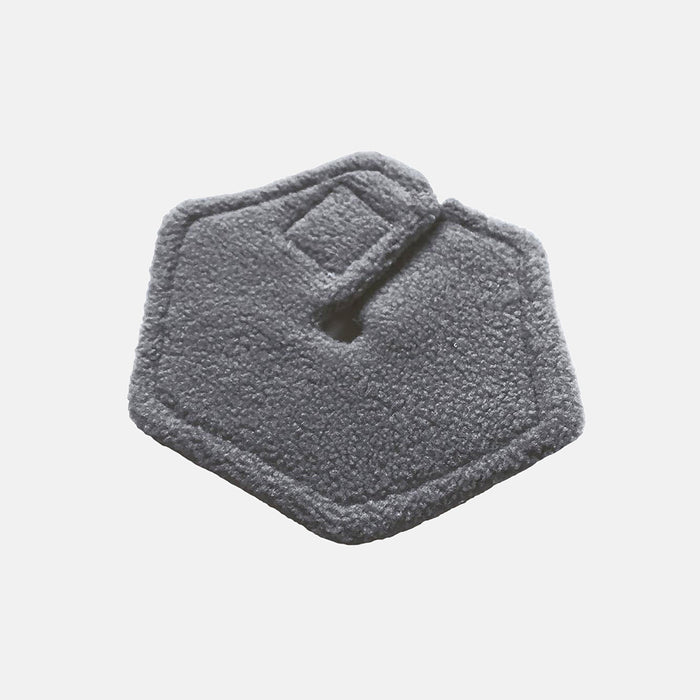 Soft felt inside of hexagonal g-tube pad