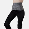 Supportive waistband in soft, moisture-wicking charcoal gray lycra fabric for ostomy or surgery recovery