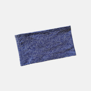 Flat, streamlined ostomy, g-tube, recovery waistband in indigo fabric