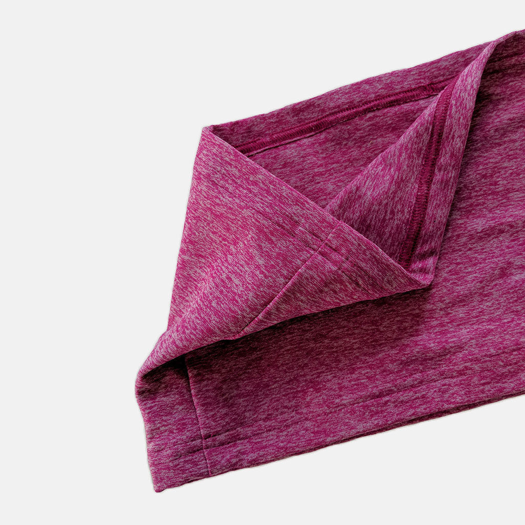 Soft, flexible ostomy waistband in hot pink fabric