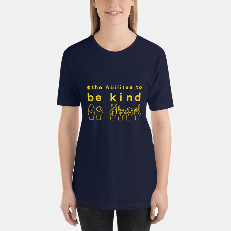 cotton, t-shirt, tee, supporter, awareness, clothing, unisex adult, disability, soft, anti-bullying