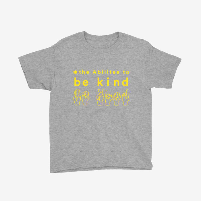 Gray BE KIND Youth (8 - 16) Short Sleeve T-Shirt