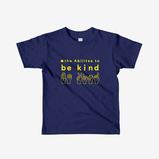 Navy BE KIND Youth (8 - 16) Short Sleeve T-Shirt