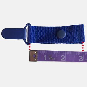 Total length of cath clip netting is measured at 3 inches long