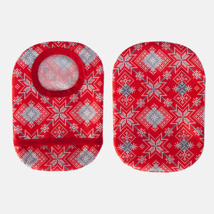 Holiday Print Ostomy Cover