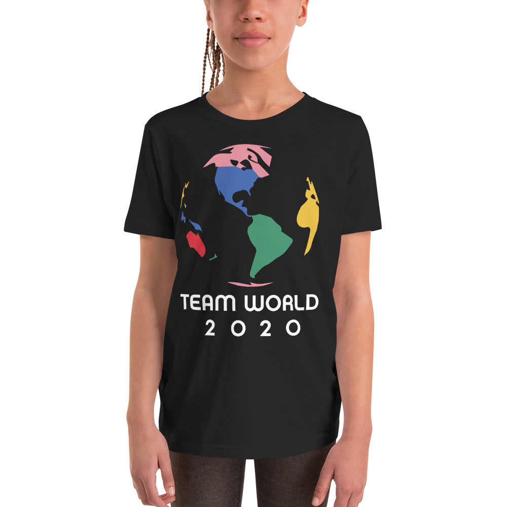 TEAM WORLD Black Unisex Tee (Youth)