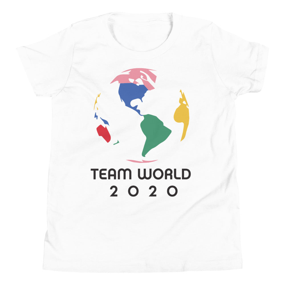 TEAM WORLD White Unisex Tee (Youth)