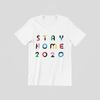 STAY HOME White Unisex Tee (Adult)