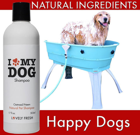 Natural Dog Shampoo Oatmeal & Neem - Lovely Fresh - 10
